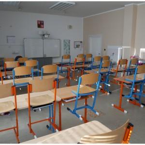 Jedna ze tříd základní školy